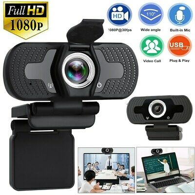 1080P Full HD USB Webcam For PC Desktop Laptop Web Camera With Microphone  FHD