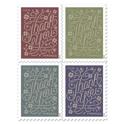2020 US Stamp - Thank You - BLOCK of 4 - SC  - Pre-Order ship after 821