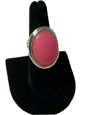 Sterling Silver Pink Quartz Ring Size 7