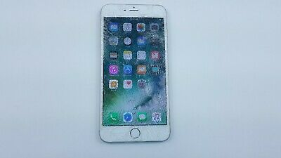 Apple iPhone 6 Plus 16GB Silver Tracfone A1522 Smartphone Cracked IMEI J8075