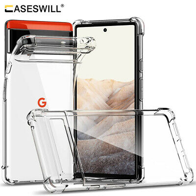 For Google Pixel 5 4a 5G Case Clear Shockproof Soft TPU Cover - Screen Protector