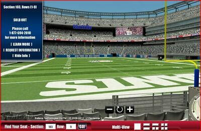 NEW YORK GIANTS PSL RIGHTS TO GIANTS 2 TICKETS