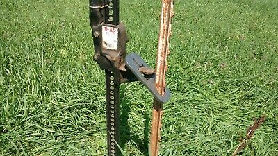 NEW - HEAVY DUTY STEEL - T POST PULLER - USE WITH JACK OR LOADER - MADE IN USA