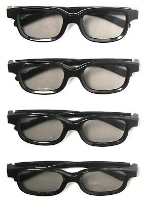 Lot of 4 REAL D PASSIVE 3D Glasses Adult Size NEW  For PASSIVE 3d TVs