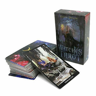 Collectible Witches Tarot Deck 78 Cards Divination Prophet Cards Top Quality
