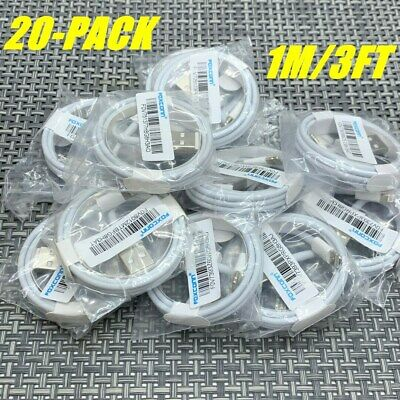 20X Foxconn OEM Lightning Charger Cable cord For iPhone 11 XR XS 8 7 6 Plus Ipad