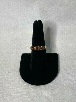 NYC II Chuck Clemency Gold Vermeil Gemstone Stack Ring Size 7