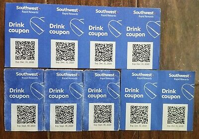 Southwest Airlines SW 9 Drink Coupons CHEERS