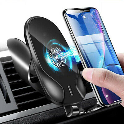 Qi Wireless Charger Gravity Phone Holder Air Vent Car Mount for iPhone Samsung