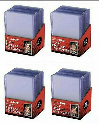 100 Ultra Pro Regular 3 x 4 Toploaders New top loaders  FREE SHIPPING