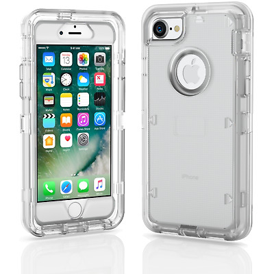 For iPhone 7 8 Plus Rugged Shockproof Case Cover wBelt Clip - Screen Protector