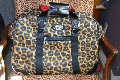 Brighton Luggage Leopard Print Rolling Bag Carryon