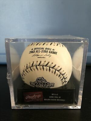 2003 MLB All Star Game Official Baseball Sealed Platic Cube NEW