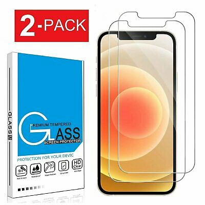 2-Pack Tempered Glass Screen Protector for iPhone 12 12 Pro Max 12 Mini