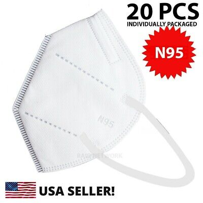 20 Pcs N95 MEDICAL Face Mask Cover Protection Respirator Masks N 95