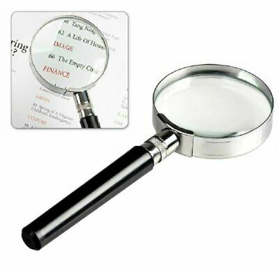 Magnifying Glass 6X Reading Magnifier HANDHELD 2 Glass Lens Jewelry Loupe Loop