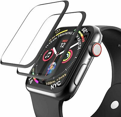 2-Pack Full Cover 3D Screen Protector for Apple Watch Series 1 2 3 4 5 6 iWatch
