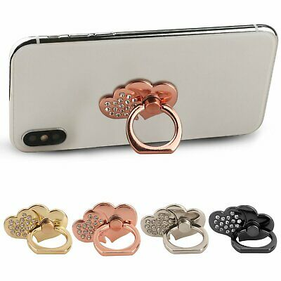 Universal 360 Rotating Finger Ring Stand Holder For Cell Phone DOUBLE HEARTS