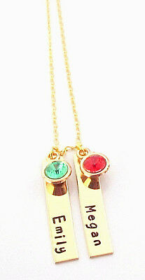 Personalized Bar Necklace Mothers Day Gift Gold Bar Necklace Rose Gold Necklace