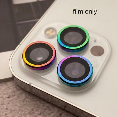 Metal Ring Tempered Glass Camera  Lens Screen Protector For iPhone 1112 Pro Max