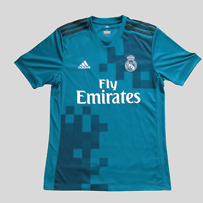 Real Madrid jersey Size M 2017 2018 third shirt BR3539 Adidas soccer