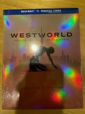WESTWORLD Season 3 The New World Blu-Ray - Digital - Slipcover FACTORY SEALED