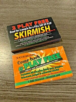 SKIRMISH PAINTBALL LOT OF TICKETS FREE TO PLAY SEE DETAILS
