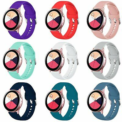 Silicone Sport Strap For Samsung Galaxy Watch Active2 40mm 44mm Wrist Band