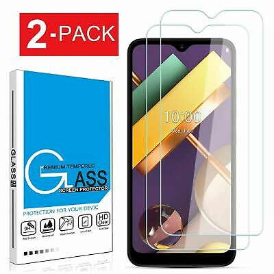 2-Pack For LG K22K22- Plus 9h Premium Tempered Glass Screen Protector