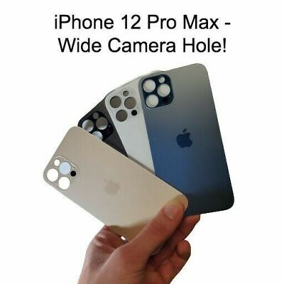 Rear Back Glass Door Cover Replacement With Big Wide Hole for iPhone 12 Pro Max