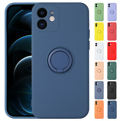 Liquid Silicone Case For iPhone 12 11 Pro XS Max XR 8 SE2 Shockproof Lens Cover