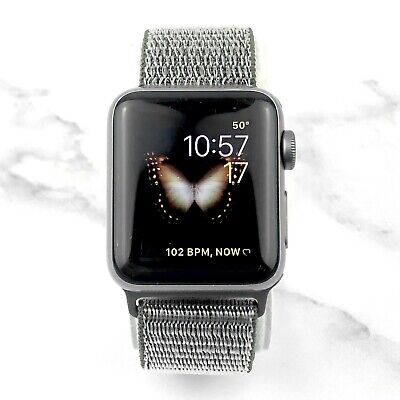 Apple Watch Series 3 38mm Space Gray Aluminium with Olive Loop GPS