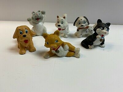 VTG Jasmin My Precious Pets Lot of 3 Dogs and 3 Cat PVC Figures