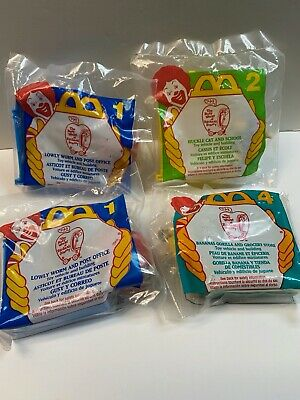4 McDonalds Happy Meal The Busy World of Richard Scarry Toys Never Opened