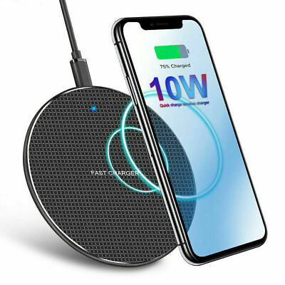 Qi Wireless Charger Fast Charge Pad For iPhone XS Max X XR 12 11 Pro For Samsung
