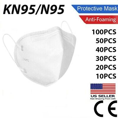 50100 Pcs KN95 Protective Face Mask  N95 Stamped Disposable Masks BFE 95 N 95