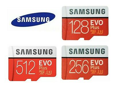 SAMSUNG EVO Plus Micro SD Card SDHC CLASS10 Card - Adapter 128GB 256GB 512GB