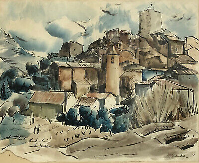 Willy EISENSCHITZ / Aquarelle / Le Revest ?