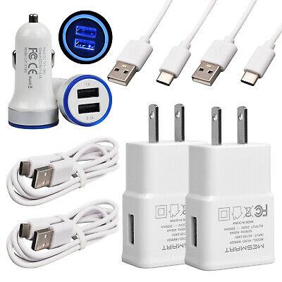 For Samsung Galaxy Fold Note 10 10- 5G A50 S10- USB Wall Car Adapter Type-C Cord
