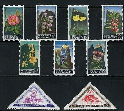 Flowers on MNH Stamps from San Marino-02N-A 105