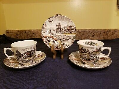 Yorkshire Staffordshire Ironstone Teacup and Saucer Set
