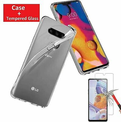 For LG Stylo 6 Phone Case Shockproof Clear Cover Tempered Glass Screen Protector