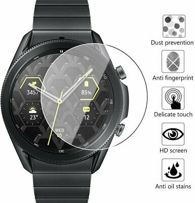 9H Tempered Glass Screen Protector for Samsung Galaxy Watch 3 41mm 45mm