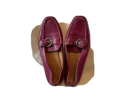 Coach Womens Shoes Size 8-5 B Emery Loafer Buckle Flats Pink Made In Italy