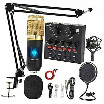 Podcast Equipment Bundle with Professional Cardioid Pickup Podcast Microphone