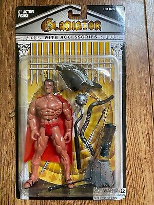 HTF Gladiator 6 Action Figure with Red Accessories Never Opened