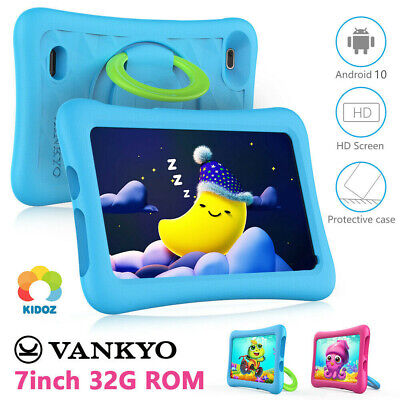 32GB 7 Android 8-1 Tablet PC For Kids Quad-Core Dual Cameras WiFi Bundle Case
