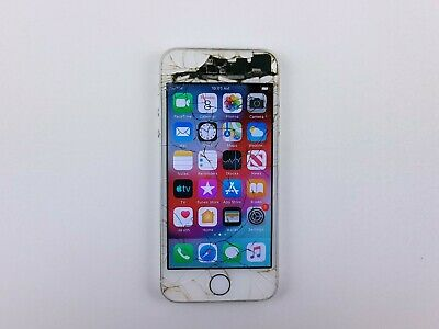 Apple iPhone 5s A1533 16GB - Silver GSM Unlocked Cracked Clean IMEI K1351