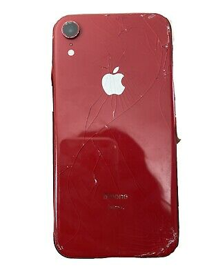 Apple iPhone XR 64gb T-Mobile Red Cracked Screen Please Read Description