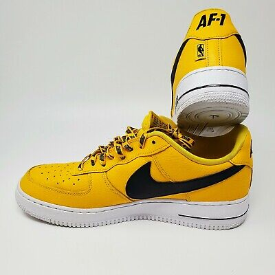 YellowBlack Nike Air Force 1 Low Top 07 LV8 NBA Pack Shoes-Size 11